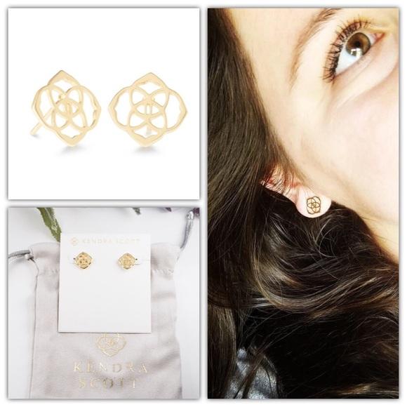 5046efcf9 Kendra Scott Jewelry | Dira Stud Earrings In Gold | Poshmark